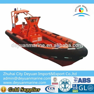 China Inboard Engine Inflatable Fender Rigid Fast Rescue Boat