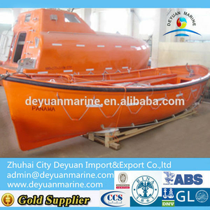 Ship Open Type Fiberglass Lifeboat with 7~72 people and good quality for hot sale