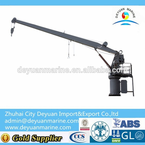 30KN/3T Marine Hydraulic Slewing Crane / Rescue Boat Liferaft Landing Device