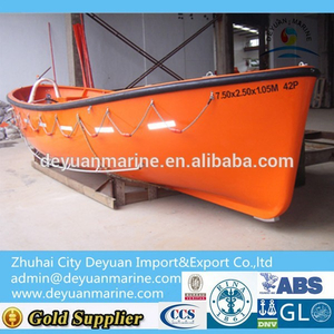 15 person FRP Open type Lifeboat with CCS certificate