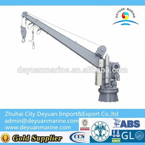 Single Arm Slewing Boat/raft Davit Crane From Deyuan Marine