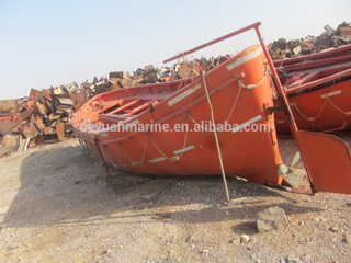 Marine used lifeboat open type fiber glass boats for sale