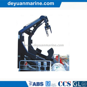 Gravity Luffing Arm Type Davit Free Fall Lifeboat Launching Appliance Single Arm Slewing Boat Davit with Crane with Competitive Price