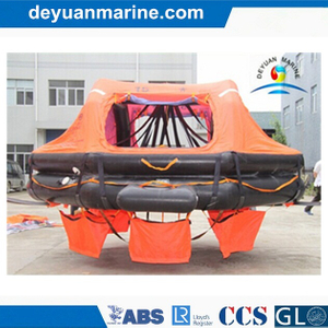 Davit Launched Life Raft Self-Righting Throw Overboard Inflatable Liferafts with Gl Ec Class Approval Certificate for Sale