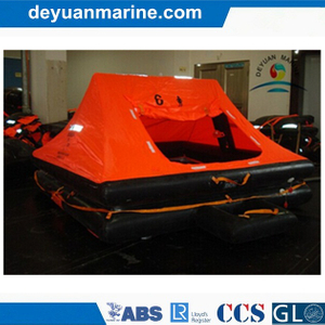 6 Persons Inflatable Liferafts Yacht Leisure Type with Valise Packing or Solas a Pack Container