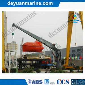 Marine Single Arm Slewing Boat/ Raft Davit