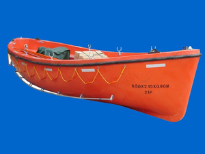 Solas Fiberglass Open Type Lifeboat with CCS Class Approval Certificate