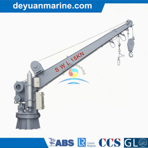 Single Arm Slewing Boat and Raft Davit Rescue Boat Davit with Hydraulic Crane Single Arm Rotary Raft Davit with Competitive Price