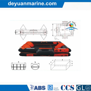 50 Man Open Type Reversible Inflatable Liferaft with Solas Standard